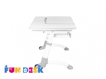fundesk amare grey with drawer вид сбоку