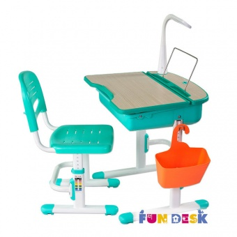 fundesk capri green с лампой L1 и корзиной ss3